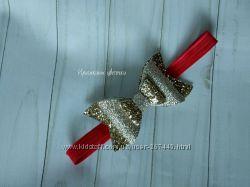 Золотой бантик на повязке