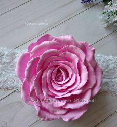 Повязка с розой из фоамирана
