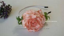 Роскошный цветок на обруче из фоамирана