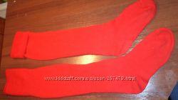 гольфы красные р 38-40  23-25 махра шерсть