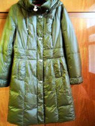 натуральный пуховик пальто р-р 48