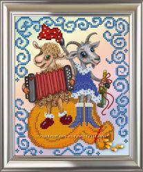 Новогодние картины для вышивания бисером