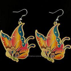 Серьги - бабочки