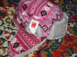 Красивая шапка ушанка 52-54см новая