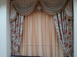 шторы, пошив, дизайн, карнизы. Бровары.