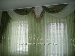 Пошив  штор, римские шторы, гардин, покрывал, подушек.