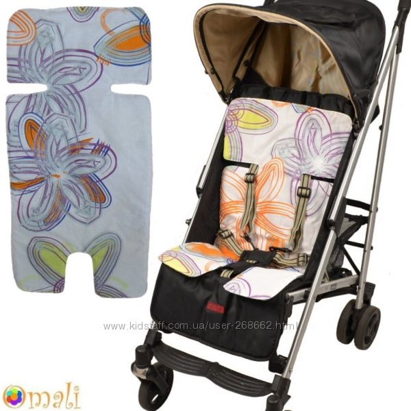 Вкладыш-матрасик натуральные в детскую коляску или автокресло