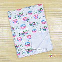 Непромокаемая двусторонняя пеленка 60x80 тм Omali фланель, животные