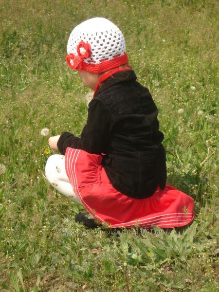 Нарядная шапочка на девочку 2-4 года