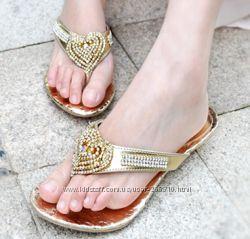 Шикарные шлепанцы-Эксклюзивная обувь