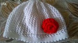 Весенняя шапочка для девочек