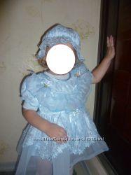 Нарядное платьице с панамкой