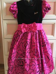 Платье с велюровым верхом Barbi. 122 рост. 5, 6, 7 лет