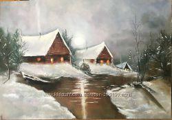 Картина 50х70Волшебная зима Моя работа