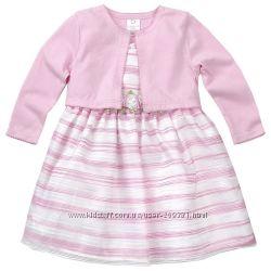 Платье с кардиганчиками на самых маленьких малышек.