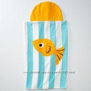Яркое полотенце с капюшоном. Большой размер. Рыбка.
