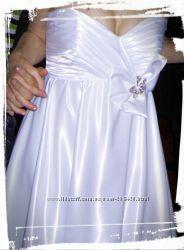 Платье атласное для свадьбы