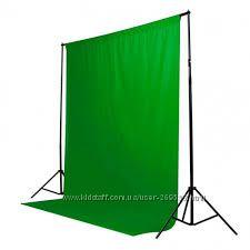 Зеленый фон Хромакей, chroma key, гринскрин, green screen, доставка бесплат