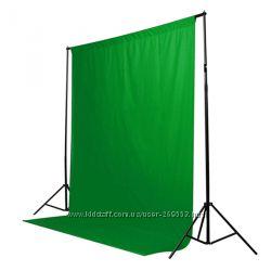 Зеленый фон Хромакей 3х3м, chroma key, гринскрин, green screen