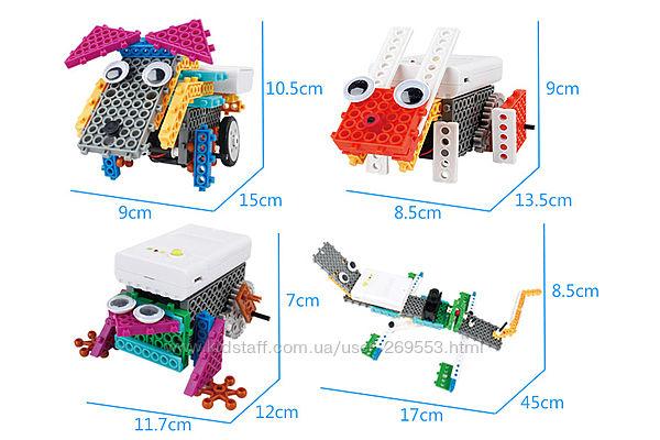 Конструктор электронный детский HIQ B711 12-в-1 173 детали животные