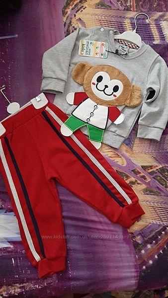 Продам стильные трикотажные спортивные костюмы для малышей Турция