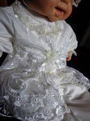 Нарядный костюмчик  для выписки из роддома или крестин