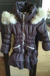 Зимнее пальто с натуральным мехом Baby Angel