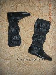 Женские кожаные сапоги, по стельке 24 см