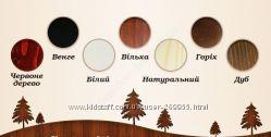выбор цвета дерева