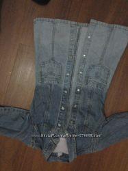 Платье  джинсовое на девочку 4лет