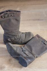 Ботиночки Zara, нубук Размер 28 по стельке 18 см