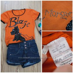 Morgan оранжевая футболка