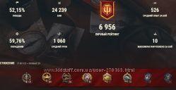 Аккаунт WOT мир танков World Of Tanks