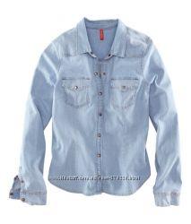 Джинсовая рубашка Н&М р. L