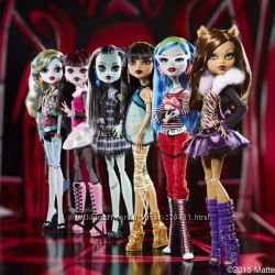 Базовые куклы Monster High Original Клодин, Клео де Нил, Френки, Дракулаура