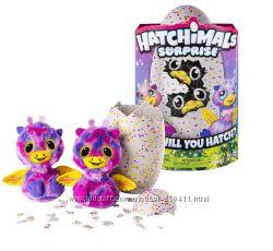 Hatchimals Интерактивная игрушка  двойной сюрприз жирафы  и котята