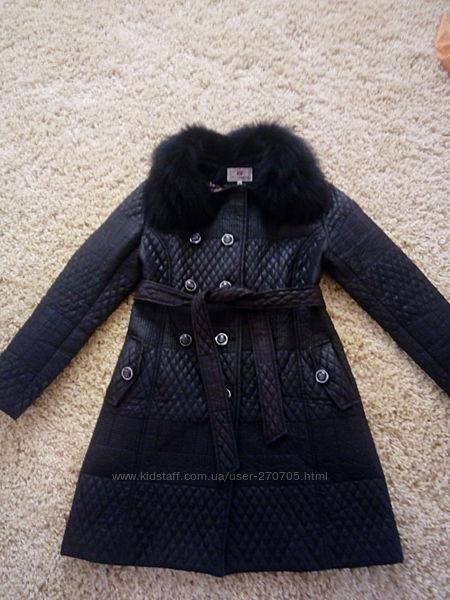 Демисезонное стеганое пальто на весну осень.