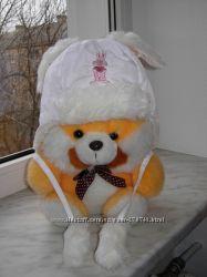 Тепленькая шапочка с ушками