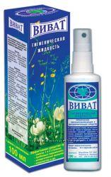 Гигиеническая жидкость ВИВАТ, Био-дезодоранты Для мужчин, Для женщин