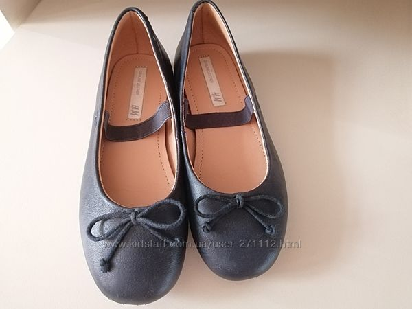 Кожа натуральная, туфли, балетки h&m 30р.