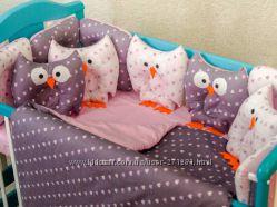 Комплекты постельного бампер подушки много вариантов