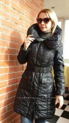 Черное демисезонное пальто Италия