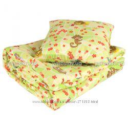Комплект детский одеяло 105х140 и подушка 60х40
