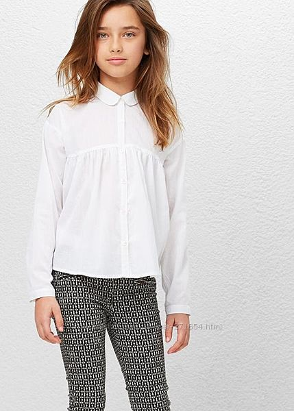 Белая батистовая блуза Mango  подарок