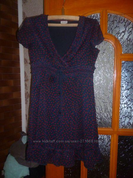 продам летнее платье в горох на разм 46-48 или  L в отличном состоянии, пер