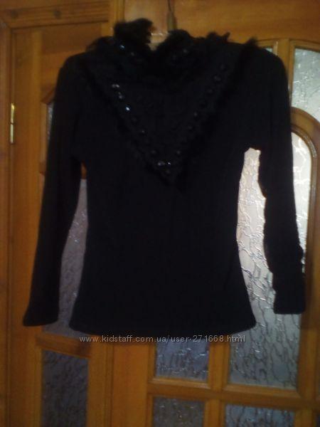 тёплый чёрный гольф свитер на разм 46-48 или L