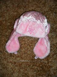 Шапка на девочку розовая