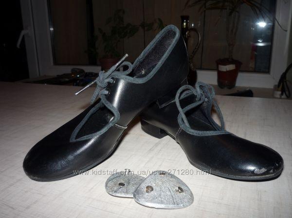 Продам танц. туфли с каблуком для степа