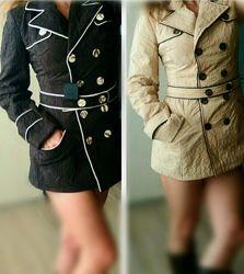 С, М, Л 42,44,46р Новая  HMD куртка пальто стеганная бежевая коричневая
