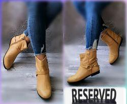 37-38р Кожа Новые Reserved, деми полусапожки, ботинки